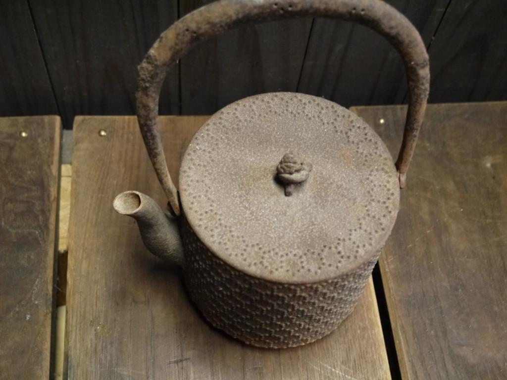 昭和 レトロ 昔の鉄やかん 1011