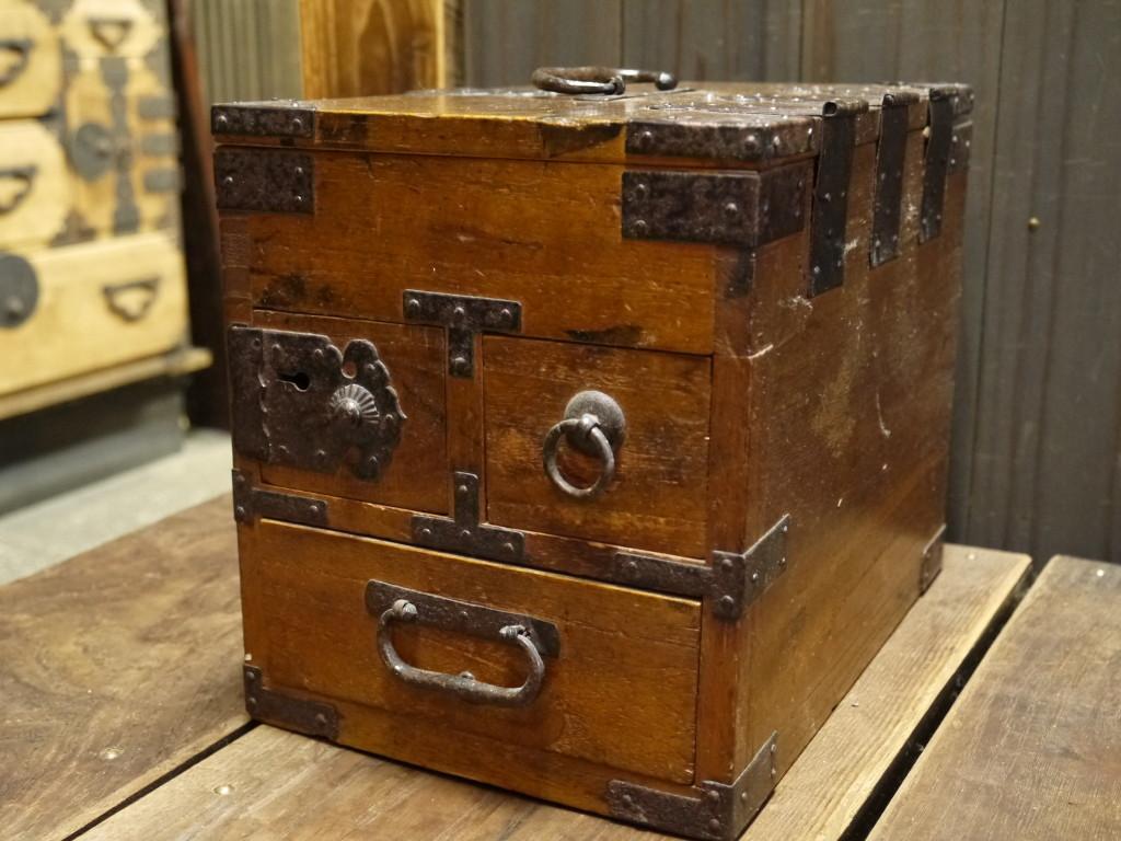 昭和 レトロ 木製 銭箱 小物入れ 1020