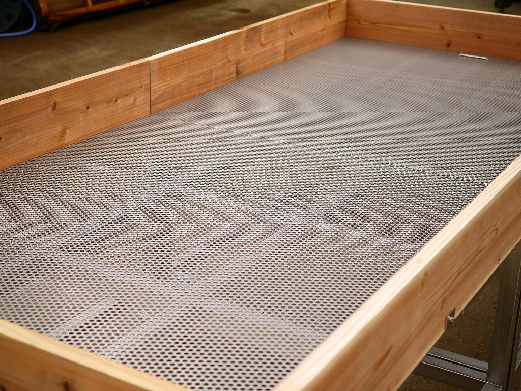 【訳あり】新品 ステンレス 木製コンビ 麹床 こうじ大台 床寝せ台 作業台 干し物台