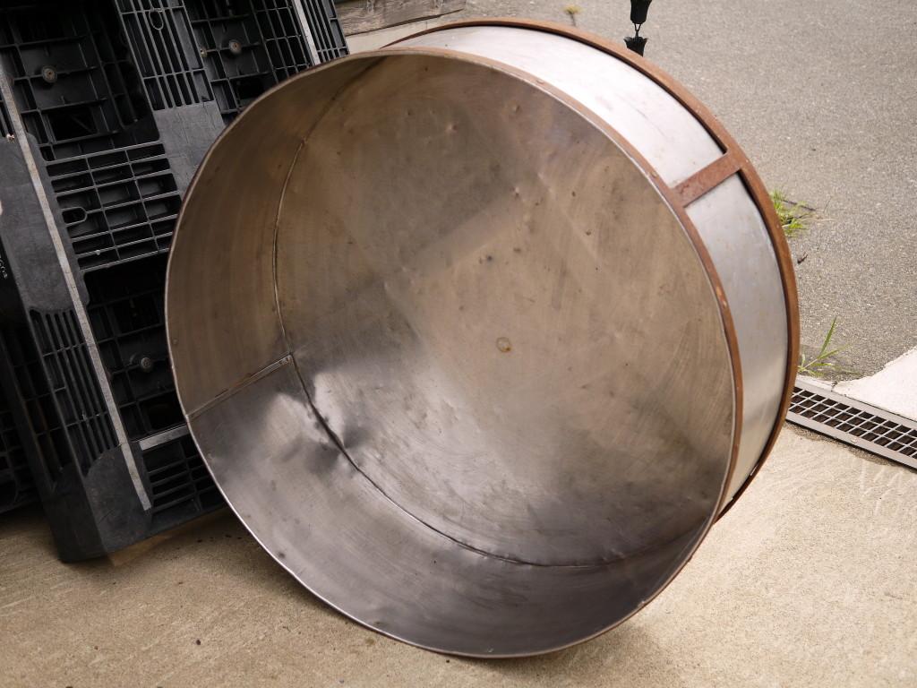 昭和 レトロ SUS 鉄のコンビ 特大半切り 桶 1025