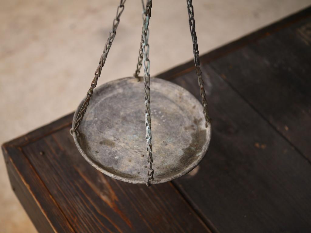 昭和 レトロ 竿量り 計り はかり 真鍮皿 1027